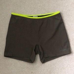 jcrewgym olive biker shorts